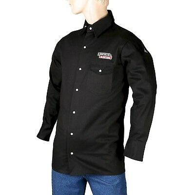 Lincoln Electric Black XX-Large Flame-Resistant Cloth Welding Shirt New