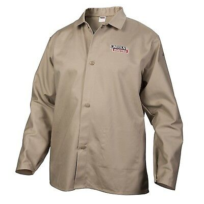 Lincoln Electric Khaki XX-Large Flame-Resistant Cloth Welding Jacket New