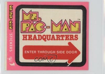 1981 Fleer Stickers #47 Ms Pac-Man Headquarters Non-Sports Card 5l1