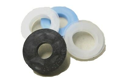 Grinding wheel reducing bushes. Rubber/plastic spacers. Per 4. Various sizes