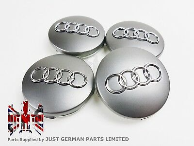 Audi A3 A4 A6 A8 Tt 4X New Alloy Wheel Centre Hub Caps Grey 60Mm 4B0601170