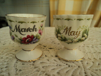 Porcellana Inglese Royal Albert Flower Of The Month May Mach Maggio E Marzo Uovo
