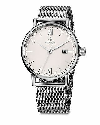 Swiza WAT.0141.1003 Swiss Made Risers Gent Man in Steel and Mesh Milanese