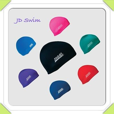 Zoggs Spandex Stretch Fabric Deluxe Swimming Cap Hat  -  ***PINK & BLACK****