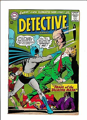 "Detective Comics #335  [1965 Vg+]  ""trail Of The Talking Mask!"""