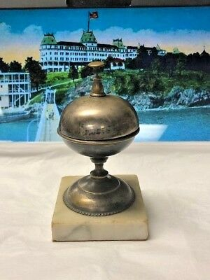 Antique Decorative Hotel Desk Bell Counter Ring For Service Solid Metal