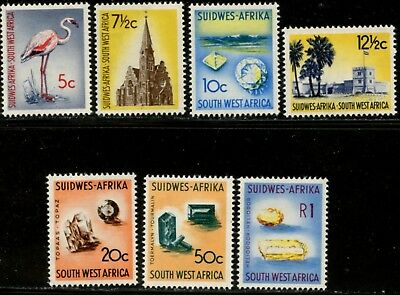 SOUTH WEST AFRICA Sc#273-276, 278-280 1961 Scenics Top Values Mint LH