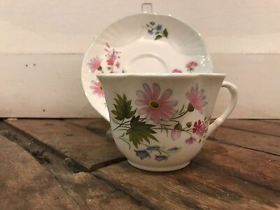 CROWN STAFFORDSHIRE WILD FLOWERS Dainty Shape Cup and Saucer