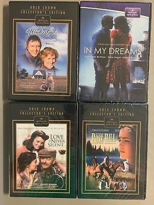 Hallmark DVD lot New Free Ship Winter's End In My Dreams Love is Never Silent Ro