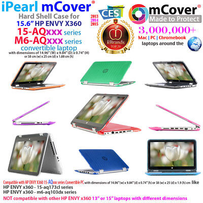 """NEW mCover® Hard Shell Case for 15.6"""" HP ENVY X360 15-AQxxx m6-AQxxx 2in1 laptop"""