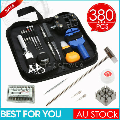 380Pcs Watch Case Opener Hand Watchmakers Remover Repair Tool Kit Set Case AU