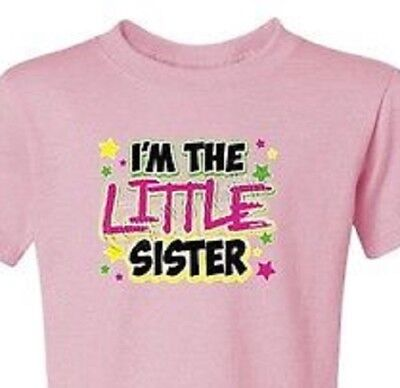 U pick sister little middle big T-Shirt new born toddler youth baby shower new