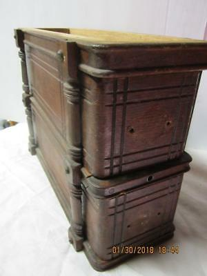 Vintage ANTIQUE  left Set Of Singer Sewing Machine Wood Drawers With frame