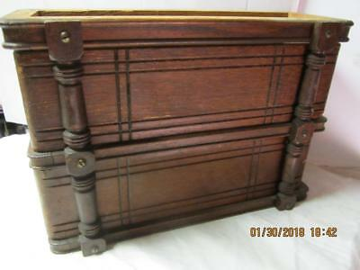 Vintage right Set Of Singer Sewing Machine Wood Drawers With frame ANTIQUE