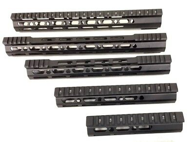 "4.2"" 7"" 10"" 12.5"" 15"" 16.5"" slim MLOK, Keymod handguard free float -clamp on 223"