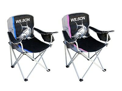 2 x Wilson Deluxe Camping/Fishing Chairs - His and Hers Chairs Combination