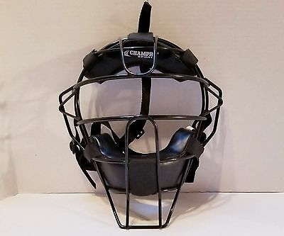 Champro Sports Adult Baseball/Softball Umpire Mask Black CM63B
