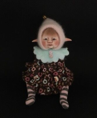 OOAK, One Of A Kind Miniature Elfin Girl By Shell
