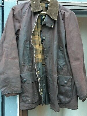 Rare Vintage Barbour A103 Classic Bedale Brown Size 36 91cm Waxed Made England
