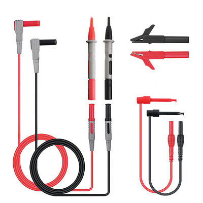Multimeter Electronic Test Leads Kit Heavy Tester Probe Set with Alligator Clips