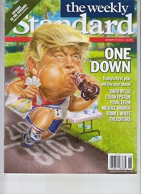 Donald Trump One Down Weekly Standard Magazine January 29 2018 No Label