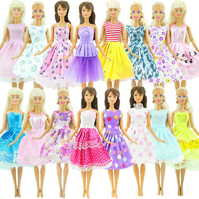 10 Pcs Handmade Dress Wedding Mini Gown Stylish Clothes For Barbie Doll New Hot