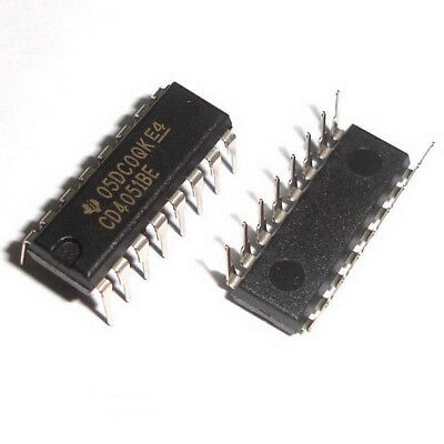 100 Pcs CD4051BE DIP-16 CD4051 Demultiplexers