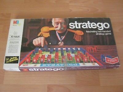 Stratego Board Game - Made In 1975 - Incomplete