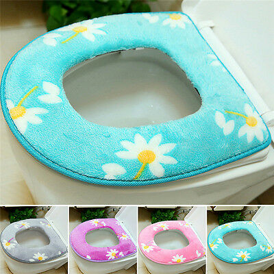 Washable Warmer Mat Cover Pad Cushion Warm Bathroom Soft Toilet Seat Closestool