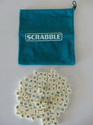 Travel Scrabble Replacement Letters - Complete Set of 100 AS NEW!