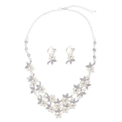 Wedding Dress Accessory Set Brides Decorative Crafts Necklace and Earrings Kit