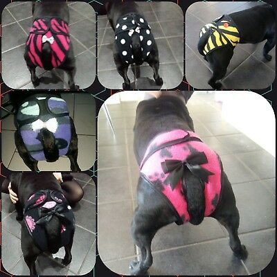 Handmade dog pants / knickers / nappy / season MADE TO ORDER by poochie pants