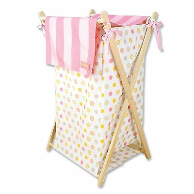 Trend Lab Dr. Seuss Baby Laundry Hamper Set Oh the Places You'll Go Pink NEW