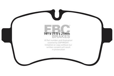 Vehicle Parts & Accessories 2011  14 Brake Pads EBC Ultimax Front Brake Pads for Iveco Daily 35S13