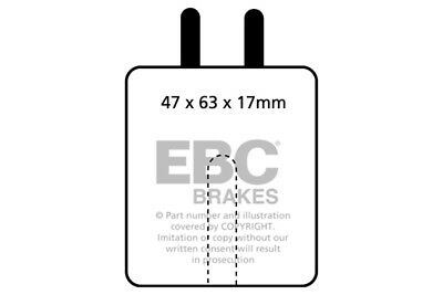 EBC Orangestuff Rear Brake Pads for Jaguar 240 2.4 (67 > 69)