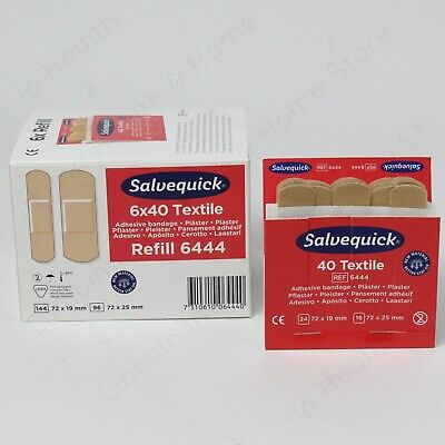 Cederroth Salvequick Fabric / Textile Plasters. (6 x 40) Pilfer Proof.