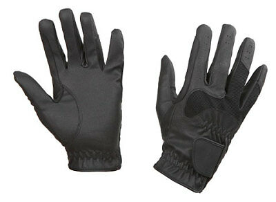 Kerbl Riding Gloves Gloria Black soft comfortable wearing elastic gripping elast
