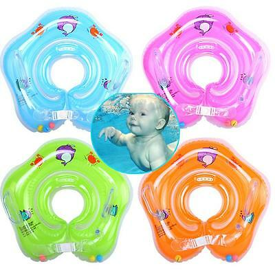 Baby Kids Infant Swimming Neck Float Inflatable Swiming Ring Safety UK &R