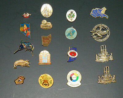 Masonic Shriners Label Pins 18 Total