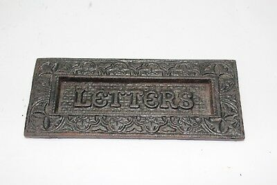 Vintage letter slot for door -  Antique - Cast Iron - Marked 934