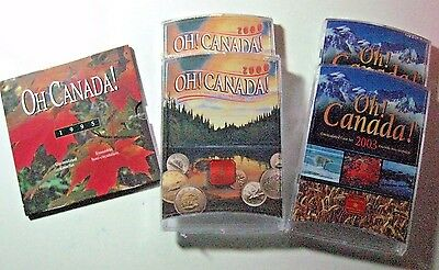 Oh' Canada Set of 5 Unc. Coin Sets, 1995, 2ea 2000 & 2003  **Free U.S. Shipping