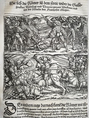Livius History of Rome Post Incunable Woodcut Schoeffer (374) - 1530