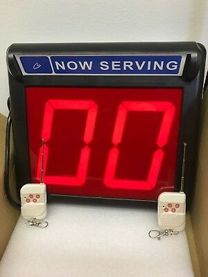 "Take a Number System / Number Display/ Up Down counter -5 1/4"" LED Display"