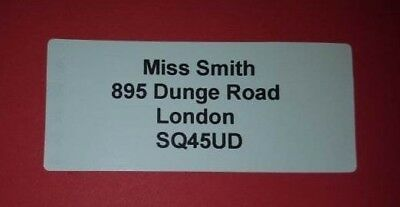 Sticky Return Address Post Labels Pre Cut Printed Self Adhesive Personal Name