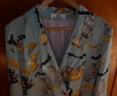 VINTAGE 80s EWALDO BOCK TAILORED  SUMMER SILK JACKET  EXCELLENT CONDITION