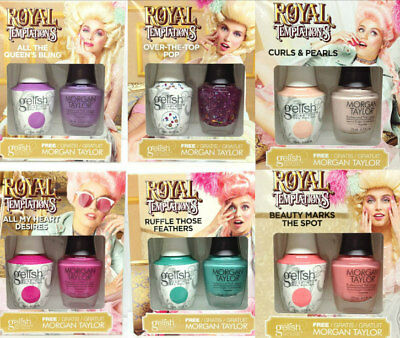 Harmony Gelish AND Morgan Taylor - ROYAL TEMPTATION Collection - Choose YOUR DUO