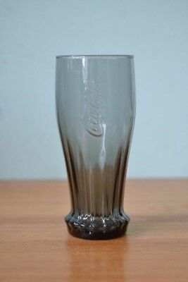 Charcoal Grey Coca Cola  Coke drinking glass tumbler BT2