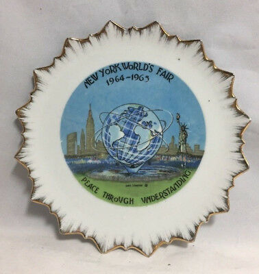 1964-1965 New York Worlds Fair, Collector's Plate, Peace Through Understanding