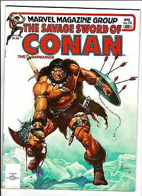 """Savage Sword Of Conan  #74  [1982 Vg-Fn]  """"lady Of The Silver Snows"""""""