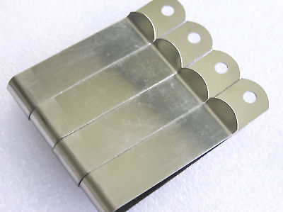 Metal Spring Money Clip  attach to belts, pockets, bags Qty 4